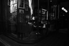 Mocha and Panini (Bury Gardener) Tags: burystedmunds bw blackandwhite britain suffolk streetphotography street streetcandids snaps strangers candid candids people peoplewatching folks 2018 nikond7200 nikon england eastanglia monochrome mono abbeygatestreet