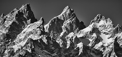 The Tetons (Ray Mines Photography) Tags: tetons wyoming mountains black white snow cold landscape scenery