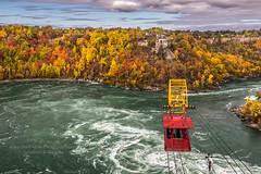 Autumn at Niagara 2018 (HisPhotographs.com) Tags: canada niagarafalls whirlpool niagarawhirlpool niagara river niagarariver whirlpoolaerocar aero car cart transport view fall colors colorful water clouds cloudy newyork united states unitedstates usa us ny