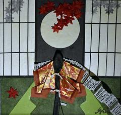 恋文 - Love letter (清水みのり - Artist) Tags: minori shimizu origami art 清水みのり 京おりがみ 楓 紅葉 満月 折り紙 日本画