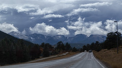 Change In The Weather, Rocky Mountain National Park, Colorado, USA (Geraldine Curtis) Tags: rockymountainnationalpark colorado usa mountains rocky clouds snow aspen fallcolours silverbark firtrees green gold yellow