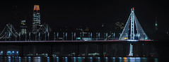 name the eastern span in honor of bay area environmentalist sylvia mclaughlin (pbo31) Tags: bayarea eastbay alamedacounty california nikon d810 color night october 2018 boury pbo31 marina emeryville halloween holiday baybridge 80 easternspan sas bridge reflection sanfrancisco skyline city urban salesforce panorama large stitched panoramic black dark lightstream traffic motion roadway over eyeofsauron hobbit trilogy lordoftherings
