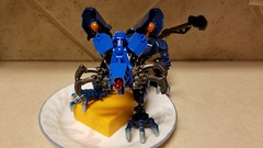 Bionicle M.O.C. - Blue Rat (Makuta Alvarez) Tags: blue rat cheese mouse bionicle rodent toy lego tail whiskers moc animal rahi cute adorable ears red nose