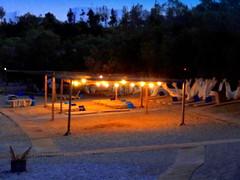 Resort at Night (dimaruss34) Tags: newyork brooklyn dmitriyfomenko image sky greece antiparos beachhouseresort trees beach lights shed sand walkways