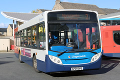 22890 SP09 DPE 2 10-2018 (Cumberland Patriot) Tags: stagecoach in north west england lancashire cumbria cms cumberland motor services morecambe white lund depot man 18240 adl alexander dennis ltd enviro 300 e300 22890 sp09dpe low floor single deck saloon bus derv diesel engine road vehicle fife scottish omnibus lancaster cable street route service 2 x2 university alexandra park