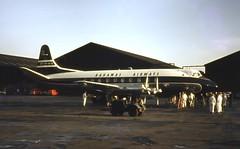 VP-BCE. Bahamas Airways Vickers V.707 Viscount (Ayronautica) Tags: 1964 january vpbce vickersv707viscount bahamasairways airliner turboprop ayronautica aviation scanned prestwick egpk pik