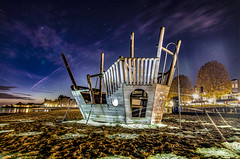 Sailing through light (Moneyfish.) Tags: lightart lightpainting playground beach light stacked image