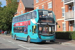 Arriva Kent Thameside / Arriva Southern Counties . 6487  YY16YKW . Waltham Cross , Hertfordshire . Friday 28th-September-2018 . (AndrewHA's) Tags: walhamcross bus arriva kent thameside arrivasoutherncounties alexander dennis e40d adl enviro 400 mmc 6487 yy16ykw route 66 loughton debden epping forest eos buses ware garage harlow essex