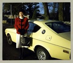 Mazda 929 Coupé (Vintage Cars & People) Tags: vintage classic photo foto photography automobile car cars motor vehicle antique auto mazda mazda929 coupé mazdarx4 mazdaluce fashion woman lady 1980s eighties jacket handbag stockings turtleneck sweater