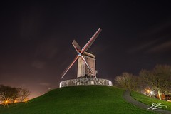 Laid Back (TVZ Photography) Tags: hdr highdynamicrange windmill bruges brugge westflanders belgium night evening longexposure lowlight sonya7riii zeiss loxia 21mm