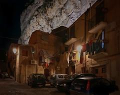 La Rocca (Tiigra) Tags: cefalù palermo italy it 2018 architecture balcony cefalu fabric iphone laundry mountain night sicily