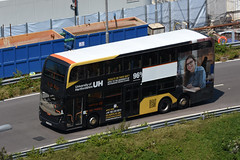 Long Win Bus 5501 UC9062 (University of Hertfordshire) (Howard_Pulling) Tags: hong kong bus universityofhertfordshire advert
