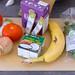 Zutaten für Hello Fresh Rezept - Karibischer Süßkartoffel-Kokos-Eintopf mit Bohnen und herzhaften Bananenpfannkuchen - Schwarze Bohnen, Kokosnussmilch, Tomaten, Zwiebeln, Gemüsebrühe, Banane und Petersilie