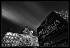 LUX AETERNA (Dierk Topp) Tags: a7rii a7rm2 bw hh ilce7rii ilce7rm2 laowa1018mmf4556fezoom sonya7rii architecture clouds hamburg monochrom sw sony