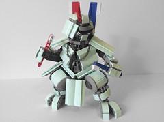 Brushiro: Squeaky Clean Samurai (AlexParkDesigns) Tags: robot mecha anime mech bot mint clean brush samurai ronin sword weapon figure toy lego bionicle technic scene