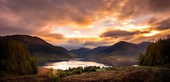 Natural mystic (Phil-Gregory) Tags: scotland nikon d7200 tokina tokina1120mmatx orange light lochduich glenshiel mountains scenicsnotjustlandscapes landscapes water cloudscape clouds hills highlands