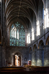 November light in Hereford cathedral (Jon Sketchley) Tags: england hereford cathedral nave sunlight norman gothic pillars vaulting