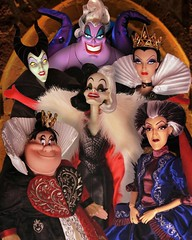 Wicked time of year (They Call Me Obsessed) Tags: halloween doll dolls disney villains villain barbie ursula cruella devil queen hearts lady cinderella evil snow white