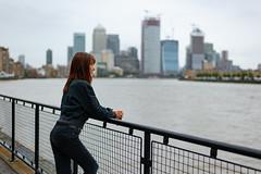 Portrait (Glennskitchen) Tags: canary wharf riverside portrait sexy redhead nikon d700 50mm 18g