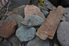Wanla Monastery, mani stones (mantras or prayers inscribed)