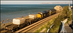Into the sunshine! (peterdouglas1) Tags: directrailservices englishelectric class37 llanfairfechan 37218 37424 37558 avrovulcan