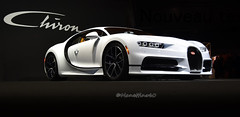 Bugatti Chiron Skyview (MANETTINO60) Tags: bugatti chiron skyview paris mondial auto hypercar 1500hp w16 supercar blanche carbone nikon d5500 white salon 2018 led face avant molsheim limited 400 france motorshow