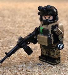 Black Marpat + ALDA 5.56 Showcase (ten.dinosaurs) Tags: brickarms mod citizenbrick lego custom figure alda rainbowsix military tinytactical