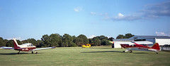 Light Planes at Candler Field (Neal3K) Tags: georgia kodakektar100 candlerfield williamsonga airfield airport aircraft