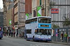 First Glasgow LK53 EXZ (33360) | Route 64 | Trongate, Glasgow (Strathclyder) Tags: first glasgow firstglasgow dennis transbus trident alexander alx400 lk53 exz lk53exz 33360 trongate merchantcity scotland olympialivery caledonia simplicity firstlondon firstcentrewest tna33360