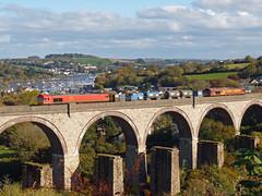 66104 & 66067 RHTT Collegewood Viaduct, Penryn (Marky7890) Tags: dbcargo 66104 66067 class66 3j15 collegewoodviaduct railway penryn cornwall maritimeline train rhtt