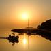 Sonnenuntergang Selliner See