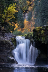 Lower Lewis Falls (Explore) (Joshua Johnston Photography) Tags: joshuajohnston pacificnorthwest pnw nature sonya7iii waterfall lowerlewisfalls autumn fall sonyfe70300mmf4556goss
