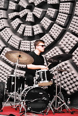 A Drummer (Pega M.) Tags: drummer drums drum jazz outdoor concert minolta x700 tamron adaptall 80210mm f38 fuji superia 200 expired 2016 slr film