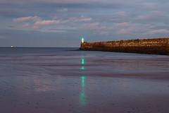 Footdee beach at dusk (jimallan195) Tags: aberdeen footdee scotland beach coast northsea landscape lighthouse