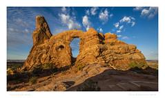 Turret Arch - Utah (Vince O'Sullivan) Tags: 2018 utah moab unitedstates us usa northamerica turretarch archesnationalpark arch rock sky red orange landscape