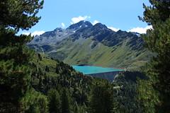 barrage et lac de Cleuson (bulbocode909) Tags: valais suisse nendaz cleuson lacdecleuson barragedecleuson lacs montagnes nature forêts arbres paysages nuages vert bleu