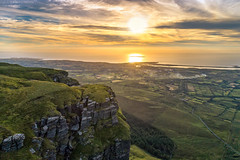 """Benbulben Mountain Summit"" (Gareth Wray - 10 Million Views, Thank You) Tags: dji mt mount mountain errigal dunlewey foot phantom four 4 pro p4p drone aerial quadcopter landscape seascape monument landmark famous tourist attraction tourism tourists historic history visit donegal ireland irish scenic gareth sligo mullaghmore benbulben benbulbin ben bulben table top yates country plateau wray photography sun atlantic day vacation ridge hill mountainside 2018 streedagh beach ancient prehistoric shell seabed limestone fossil grass sky sunset set"