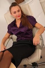 Blouse (Ten Million Smurfs) Tags: blouses blousefetish blouse shirt sexy satin