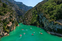 Le gole del Verdon (marypink) Tags: goledelverdon francia france provenza provence fiume river gole imbarcazioni nikond800 nikkor1635mmf40