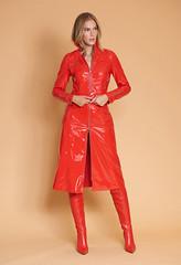 Vinyl jacket and skirt by Lu Monteiro (Vinyl Beauties) Tags: red vinyl pvc plastic jacket skirt fashion trend style beauty sexy glamour mode lack lackjacke lackrock lumonteiro