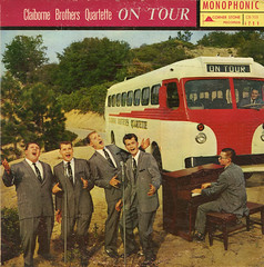 Claibourne Brothers Quartet On Tour (Jim Ed Blanchard) Tags: god religion religious christian lp album record vintage cover sleeve jacket vinyl private pressing weird funny strange kooky ugly thrift store novelty kitsch awkward claiborne brothers tour bus organ