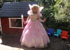 At the three little pigs' house (rgaines) Tags: costume cosplay crossplay drag fairyprincess fairygodmother coxfarms threelittlepigs