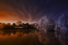 Late evening and lake ... (Julie Greg) Tags: lake england evening colours texture canon tree trees water sky weather autumn2018