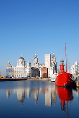 154925386 (DKM MMO) Tags: architecture blue britishculture britishcurrency buildingactivity buildingexterior builtstructure cityscape colorimage commercialdock construction contemporary copyspace downtowndistrict england englishculture europe facade famousplace fullframe industrialship jetty liverpool merseyside museum nauticalvessel new nobody passengership photography pier pierhead red reflection rivermersey royalliverbuilding sailingship sky skyline turquoise uk vertical water waterfront