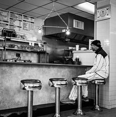 Philly Sunnyside Diner (Dalliance with Light (Andy Farmer)) Tags: diner street bw monochrome philadelphia philly pennsylvania unitedstates us