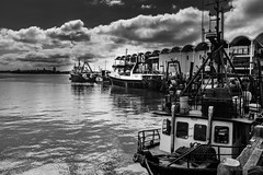 Auckland Harbour (pboolkah) Tags: water fisherman fishingboat canon5d canon aucklandregion newzealand nz soe harbour fishing auckland clouds moody canon5dmkiv
