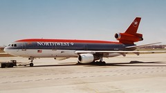 Northwest Airlines McDonnell Douglas DC-10-30 N229NW, DTW, Apr, 1997 (jemarkah) Tags: northwestairlines northwest dc10 dc1030 mcdonnelldouglas airplane airliner jetliner airport dtw n229nw