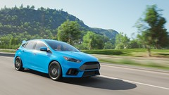 Ford Focus RS (polyneutron) Tags: horizon ford sportcar blue mountain green landscape colors morning motion