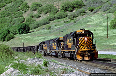 Rio Grande's Helper Local (jamesbelmont) Tags: riogrande drgw castilla spanishforkcanyon 752 helperlocal emd sd50 sd40t2 tunnelmotor coaltrain