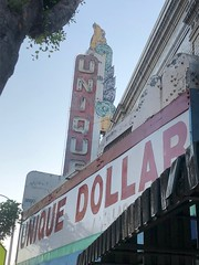 Unique Dollar Store (jericl cat) Tags: unique dollar store movie theatre theater marquee vestige closed shop neon sign vintage east losangeles ghost
